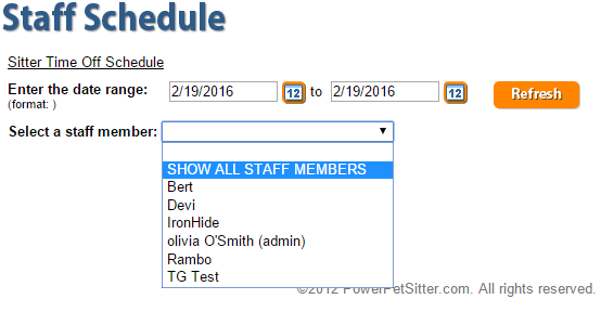 Staff Schedule Manager