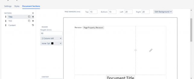 document sections scroll pdf exporter