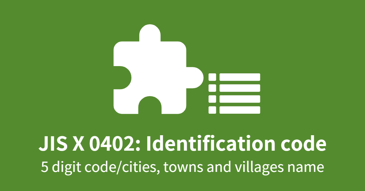 Identification code for cities, towns and villages (in