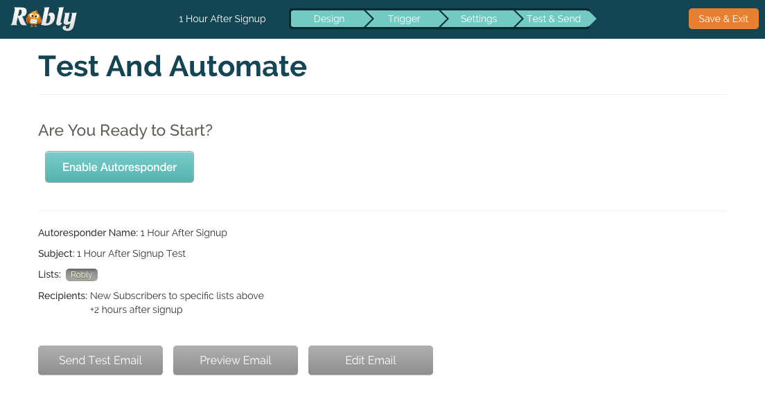 Test and Automate