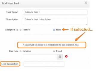 add new task if selected