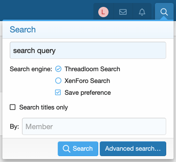 Dual-search option with savable user preference