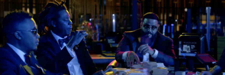 dj khaled counting money with jay z and nas rapper for music video