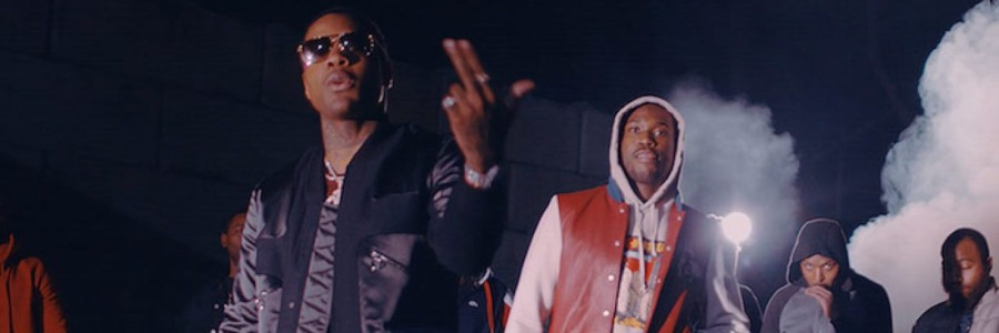 lil durk and meek mill posted up together