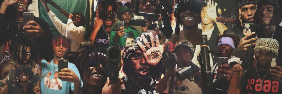 ZillaKami rap banner with multiple hip hop singles