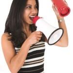 teacher with megaphone