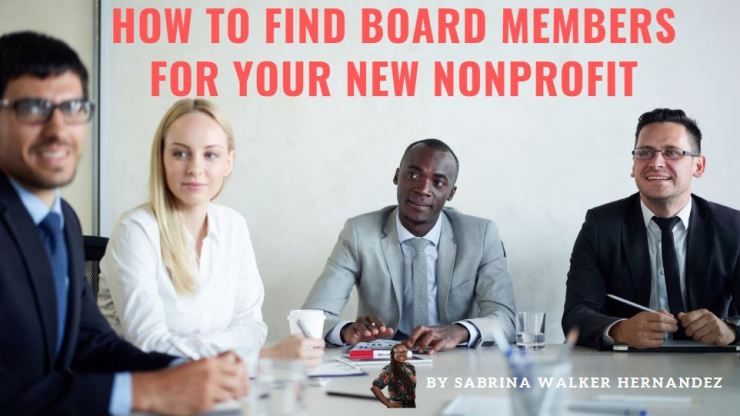 How to Find Board Membrs for your New Nonprofit