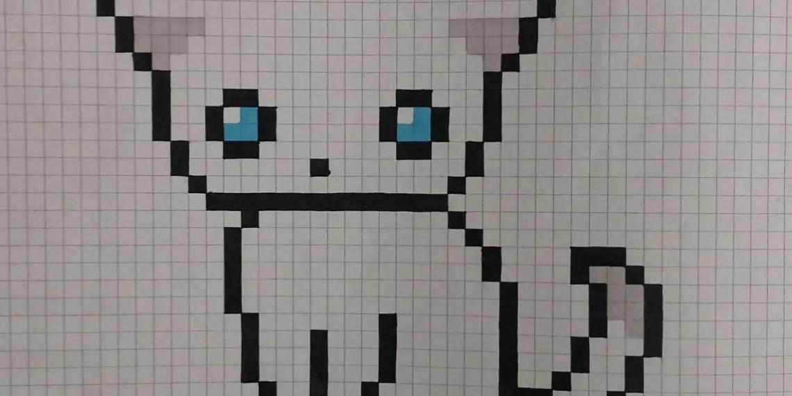 Pixel Art Animaux Chat 31 Idees Et Designs Pour Vous Inspirer En Images