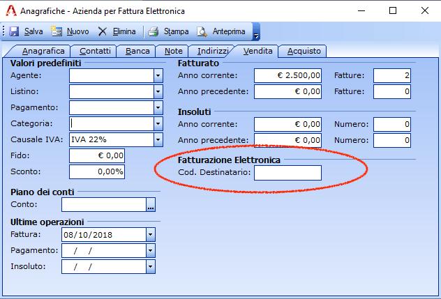 Come emettere fattura elettronica senza il codice destinatario