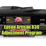 Epson Artisan 830 Adjustment Program