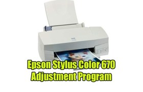 Epson Stylus Color 670 Adjustment Program