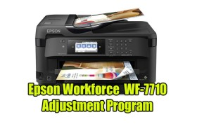 Epson Workforce WF-7710 Adjustment Program
