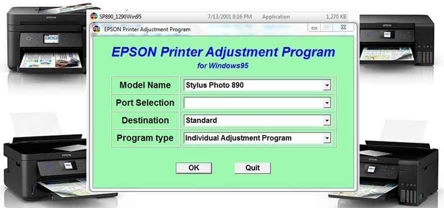 Epson Stylus Photo 890 Adjustment Program