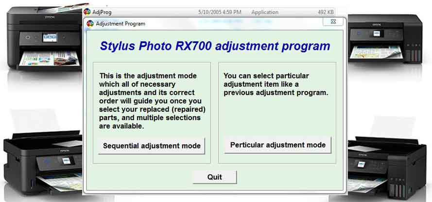Epson Stylus Photo RX700 Adjustment Program