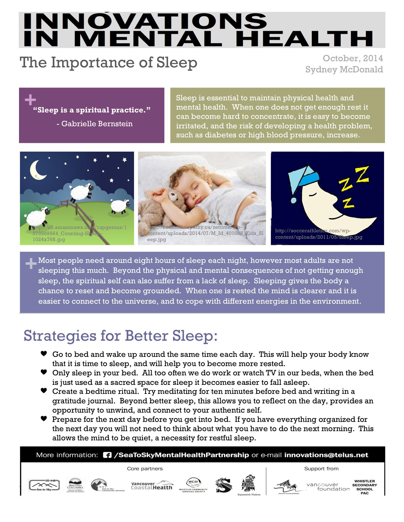 Mental Health Tips Sleep Is A Spiritual Practice The
