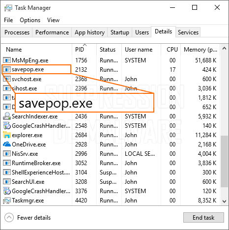 savepop.exe virus