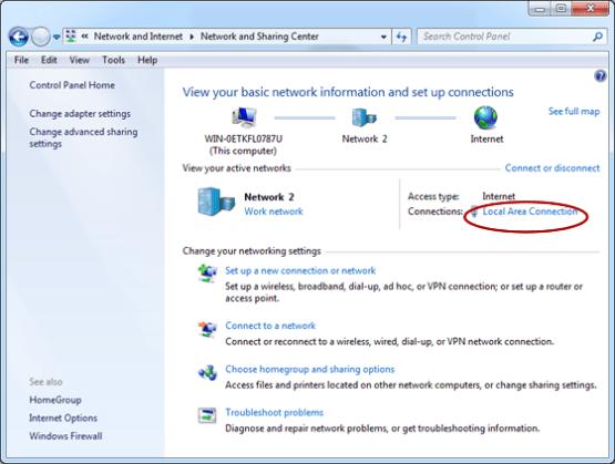 afficher vos réseaux actifs connexion au réseau local