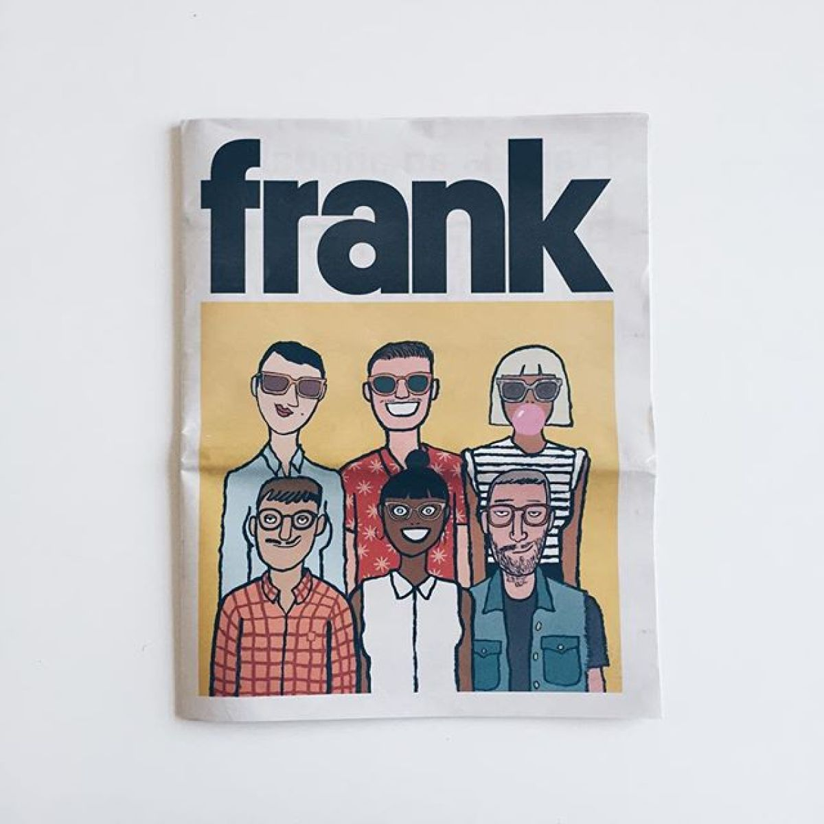 Frank @handsome_frank landed in the studio today — that's how you do it! #FrankPaper #print #design #graphicdesign