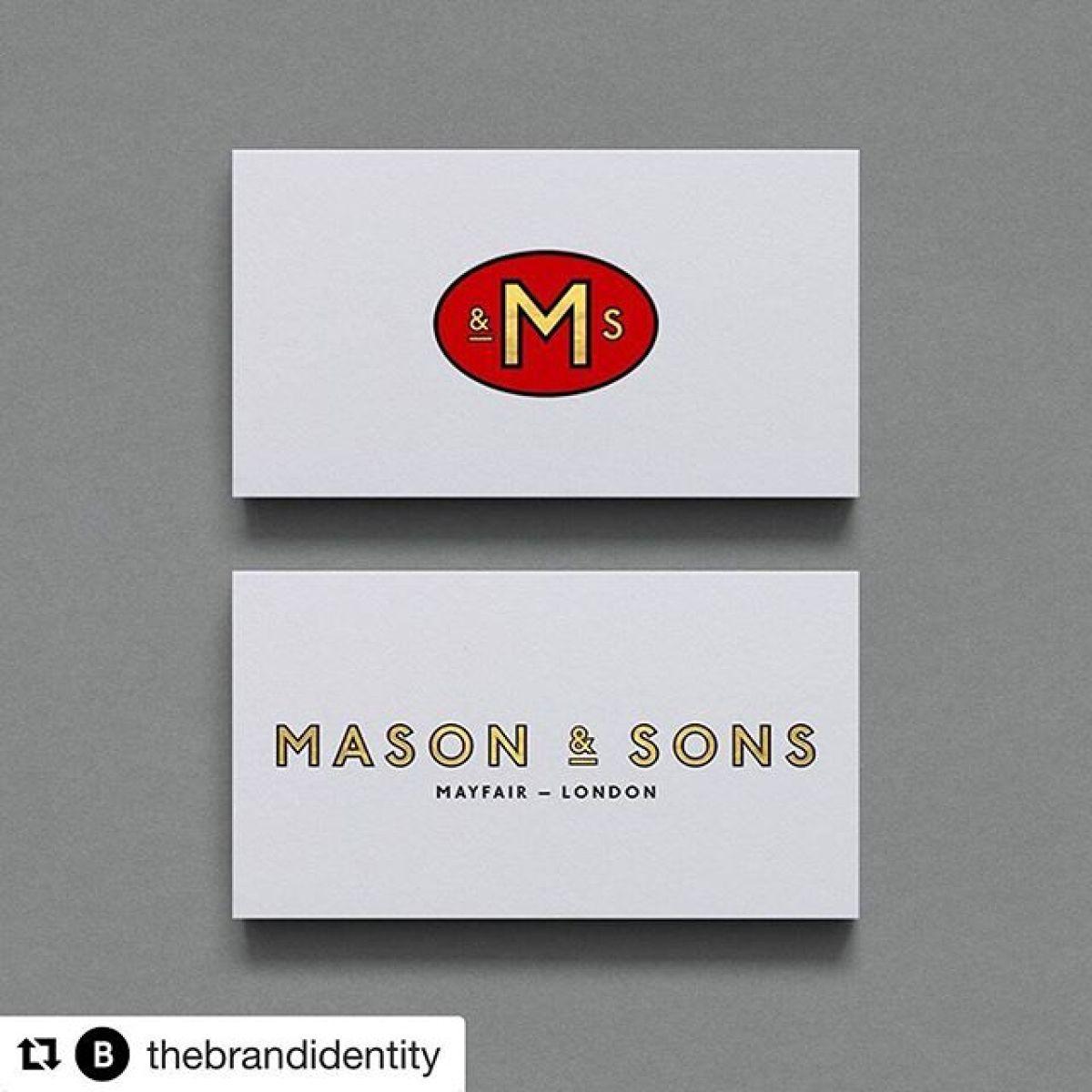#Repost @thebrandidentity・・・Mason & Sons by @supreme_dba-See more on the sitewww.the-brandidentity.com-#logo #branding #brandidentity #logotype #graphicdesign #design #contemporary #typography #studio