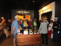 This is the group touring the American Freedom Museum in Bullock
