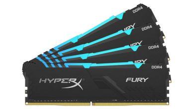 Foto de HyperX amplia portfólio de memórias com a nova FURY DDR4 RGB