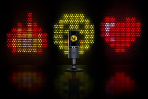Seiren Emote, o microfone que reage com emoticons