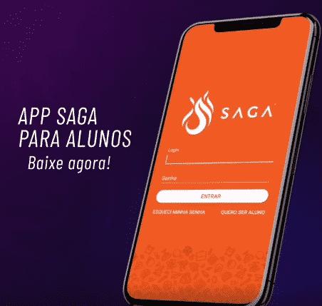 SAGA lança aplicativo e amplia a comunicação com seus mais de 20 mil alunos 1