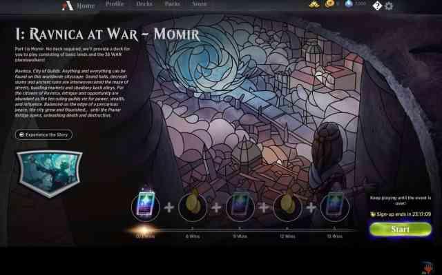 Atualização no jogo digital Magic: The Gathering Arena