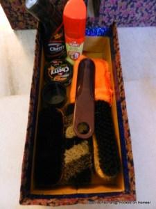 Shoe cleaning stuff in shoebox!