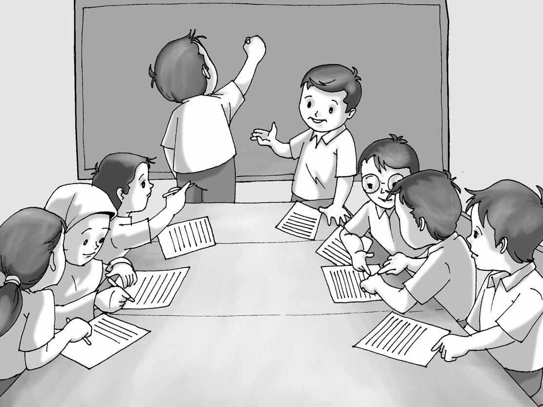 Gambar Kerjasama Di Sekolah Kartun 150 Gambar Ilustrasi Kerja Bakti Di Sekolah Gambarilus
