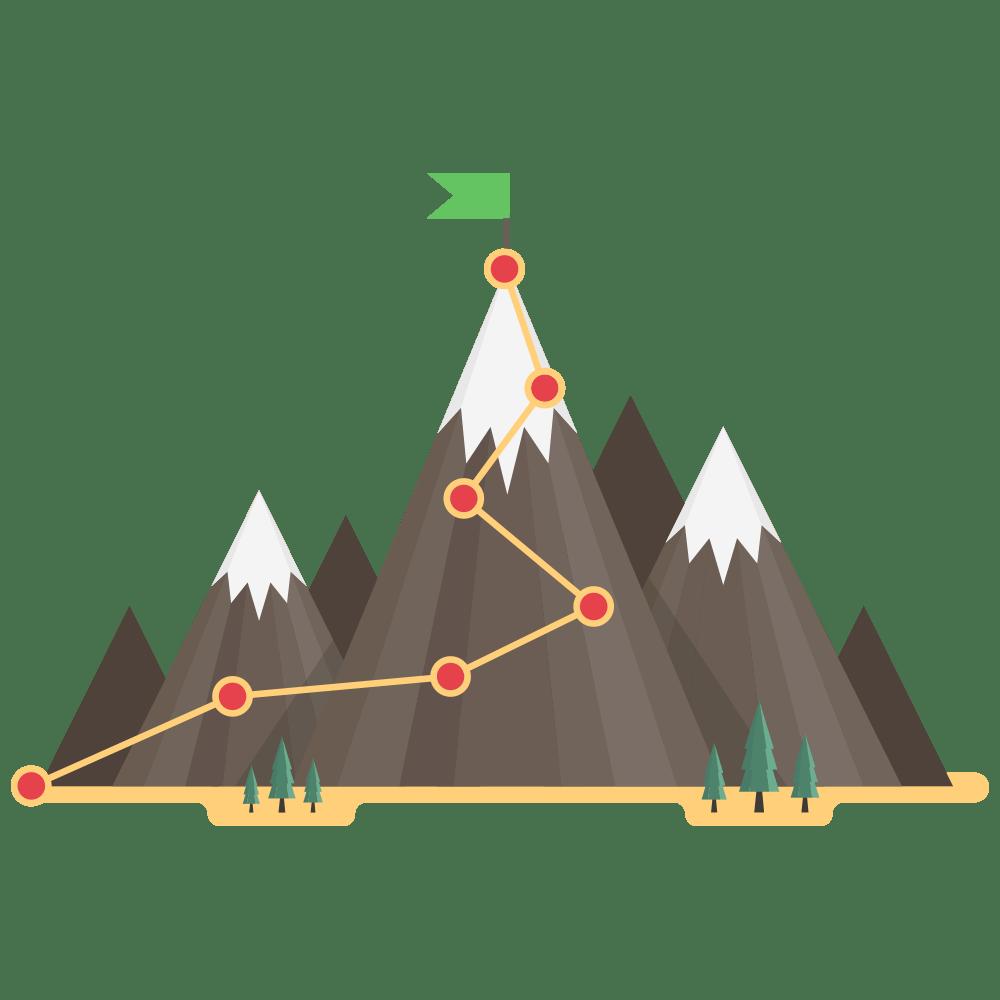supro where to start mountain journey illustration