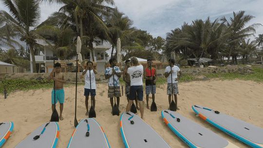 SUP Lesson from SUP instructor