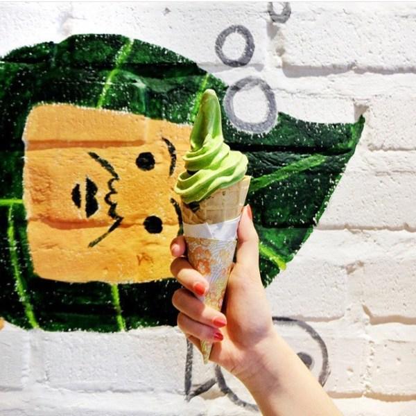 Matcha Cafe cone
