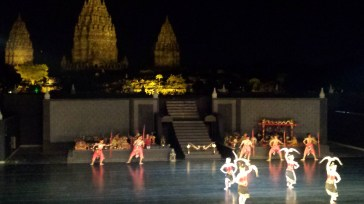 Ramayan Ballet with Candi Prambanan in background