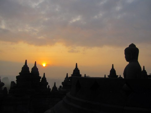 Sunrise from Borobodur