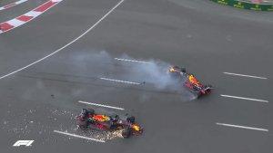 La escudería Red Bull en el Gran Premio de Azerbaiyán de la Fórmula 1.