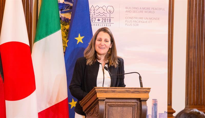 La canciller canadiense visitará México para reuniones con AMLO y Peña