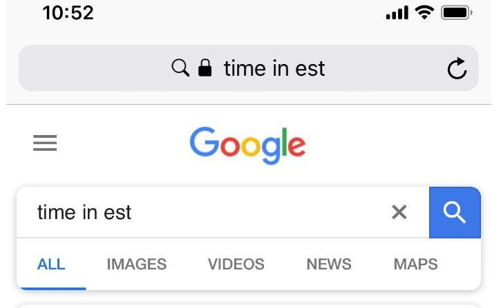 google-time-5, zero search results, 261118