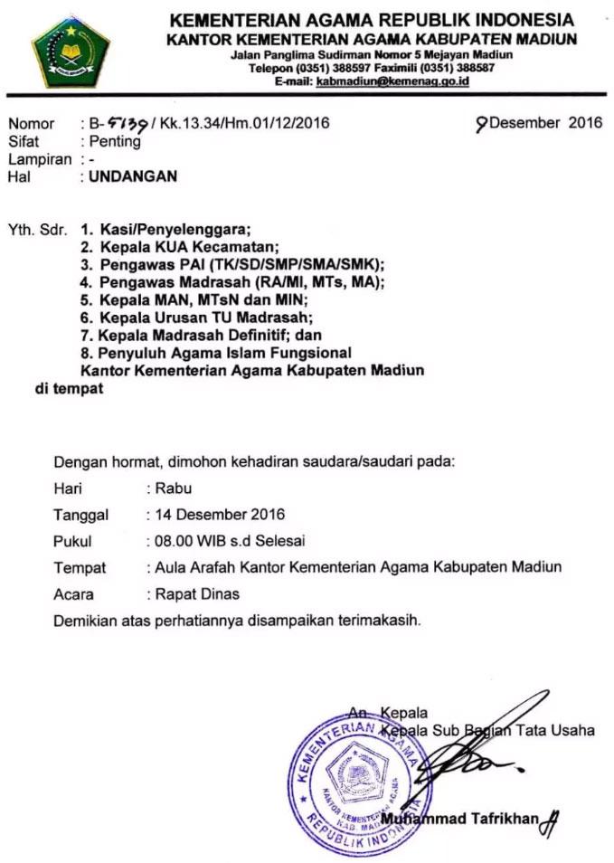 Kumpulan Contoh Surat Undangan Rapat Rt 17 Agustus Doc Hut