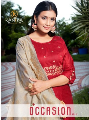 KANIKA OCCASION VOL 1 TOP WITH DUPATTA