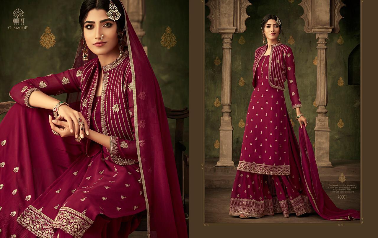 6dc3cf5aff Mohini presents Glamour-70 beautiful designer eid special sharara salwar  kameez catalog wholesaler