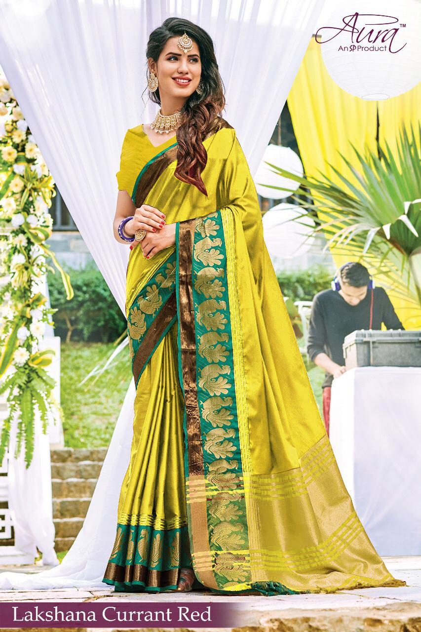 b8a2f97e2e Aura Sarees presents Lakshman colour South India pure silk sarees Wholesaler
