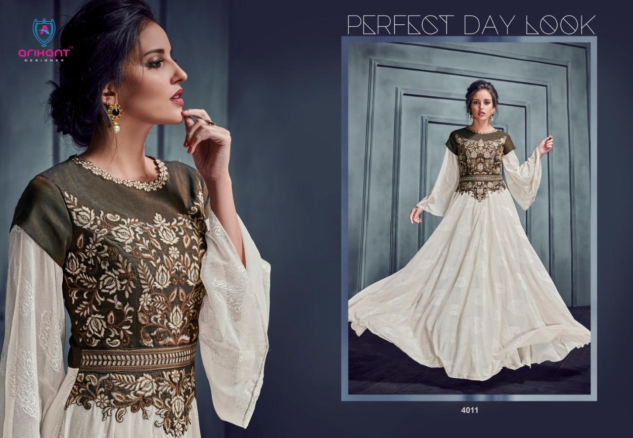 e0a466242b Arihant designer silky vol 2 exclusive party wear gown style kurti concept