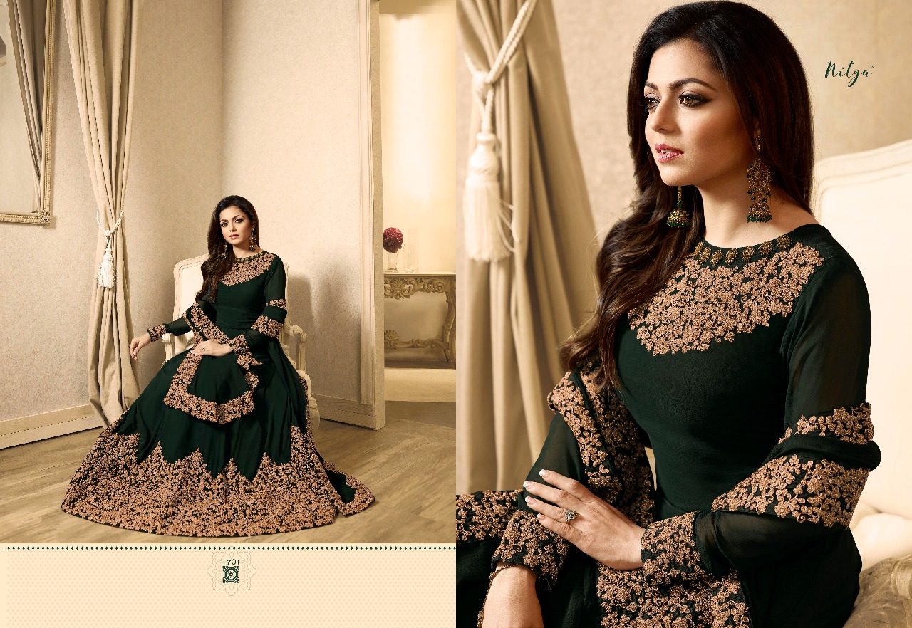 c47ca2823d LT Pressent Nitya vol 117 hit list by LT fabrics brings party wear  collection of gowns