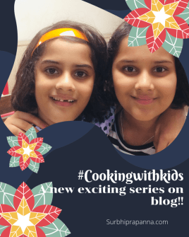 """Cooking with kids"" blog series"