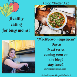"""""""Healthy eating for busy moms"""" blog series"""