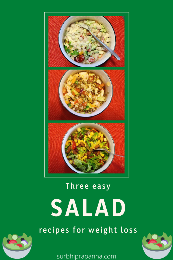 Three salad recipes for weight loss!