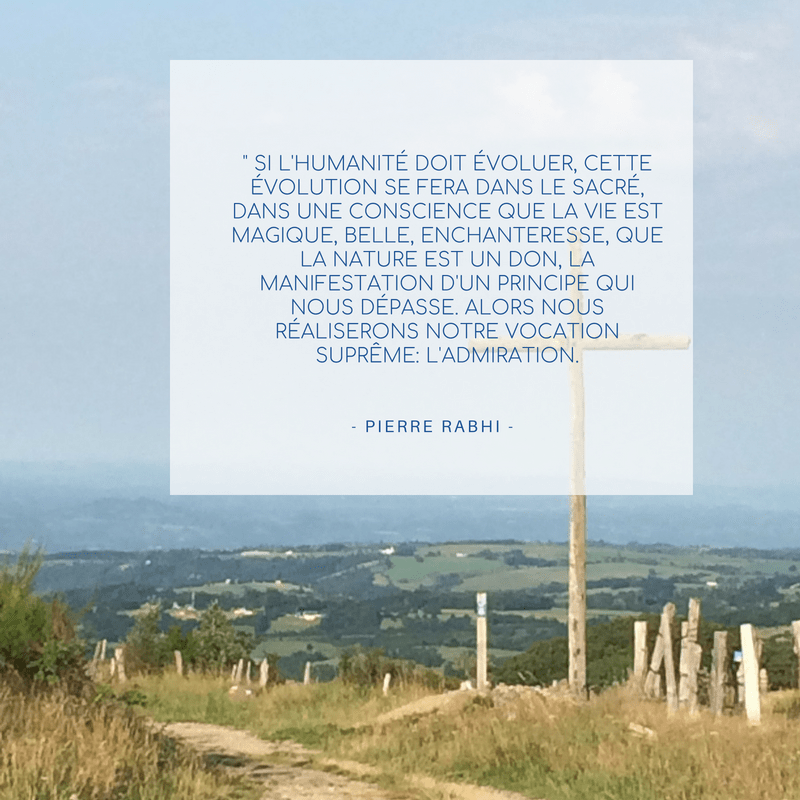 une belle citation de Pierre Rabhi