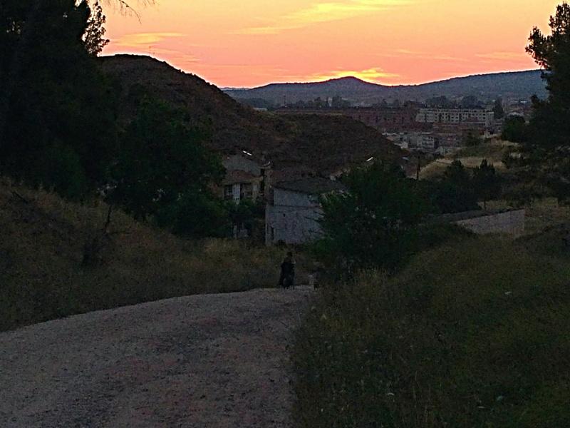 a la sortie de Najera- lever de soleil