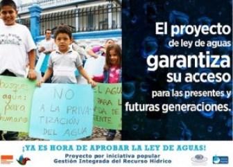 Lucha por aprobar proyecto de ley de aguas sigue vigente
